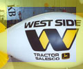 11 ft. long advertising blimp with Westside Tractor logo